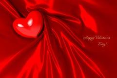 Corazón el el día de tarjeta del día de San Valentín Fotos de archivo