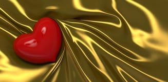 Corazón el el día de tarjeta del día de San Valentín Foto de archivo libre de regalías