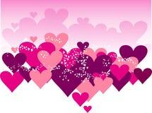 corazón el el día de tarjeta del día de San Valentín del color Fotografía de archivo