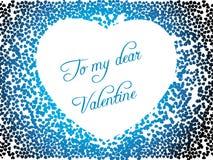 corazón el el día de tarjeta del día de San Valentín del color Fotografía de archivo libre de regalías
