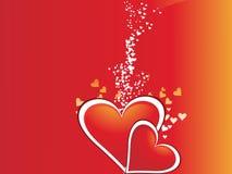 corazón el el día de tarjeta del día de San Valentín del color Imagen de archivo libre de regalías