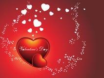 corazón el el día de tarjeta del día de San Valentín del color Fotos de archivo