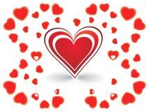 corazón el el día de tarjeta del día de San Valentín del color Foto de archivo