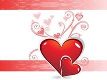 corazón el el día de tarjeta del día de San Valentín del color Imagenes de archivo