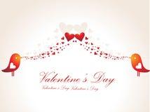 corazón el el día de tarjeta del día de San Valentín del pájaro Fotografía de archivo