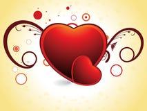 corazón el el día de tarjeta del día de San Valentín leída del color Fotos de archivo libres de regalías