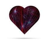 Corazón electrónico abstracto Foto de archivo libre de regalías