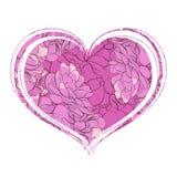 Corazón elegante de flores Fotos de archivo