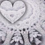 Corazón en blanco a cielo abierto libre illustration