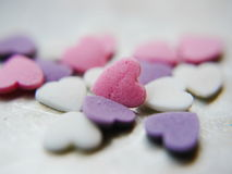 Corazón en blanco del caramelo Imagen de archivo