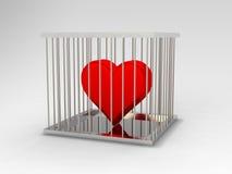 Corazón en cárcel Fotografía de archivo