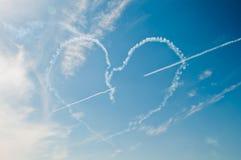 Corazón en cielo Fotos de archivo libres de regalías
