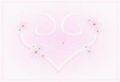 Corazón en color de rosa en colores pastel Fotos de archivo libres de regalías