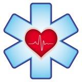 Corazón en cruz ilustración del vector