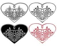 Corazón en de estilo celta Fotografía de archivo