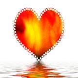 Corazón en el agua   Imagenes de archivo