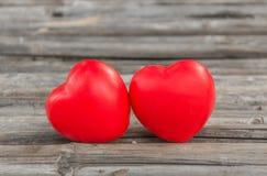 Corazón en el bambú para el amor en día de San Valentín Foto de archivo