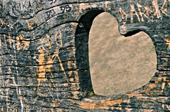 Corazón en el banco Imágenes de archivo libres de regalías