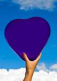 Corazón en el cielo Imagen de archivo libre de regalías