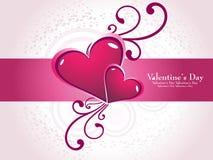 corazón en el día de tarjeta del día de San Valentín floral Fotografía de archivo