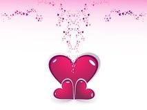 corazón en el día de tarjeta del día de San Valentín rosado del color Fotos de archivo libres de regalías