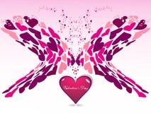 corazón en el día de tarjeta del día de San Valentín rosado del color Fotografía de archivo libre de regalías