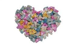 Corazón en el fondo blanco Imágenes de archivo libres de regalías