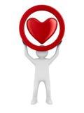 Corazón en el fondo blanco Fotografía de archivo libre de regalías