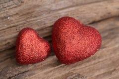Corazón en el fondo de madera Fotografía de archivo libre de regalías