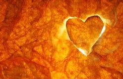 Corazón en el fuego Imagen de archivo libre de regalías