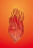 Corazón en el fuego Imágenes de archivo libres de regalías