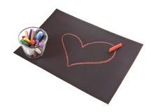 Corazón en el papel imagen de archivo libre de regalías