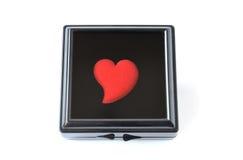 Corazón en el rectángulo negro Imágenes de archivo libres de regalías
