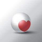 Corazón en esfera Foto de archivo libre de regalías