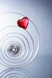 Corazón en espiral Imagen de archivo libre de regalías