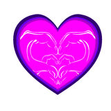 Corazón en extracto del día del ` s de la tarjeta del día de San Valentín Imagen de archivo