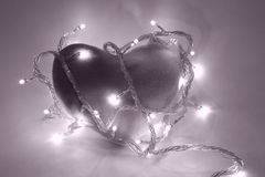 Corazón en filtro magenta Imagen de archivo