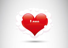 Corazón en fondo abstracto Foto de archivo libre de regalías