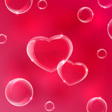 Corazón en fondo rojo ilustración del vector