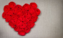 Corazón en fondo textured Fotografía de archivo