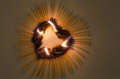 Corazón en fuego Imagen de archivo