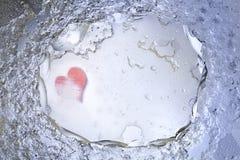 Corazón en hielo Imágenes de archivo libres de regalías