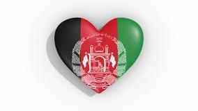 Corazón en la bandera de los pulsos de Afganistán, lazo de los colores libre illustration