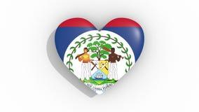 Corazón en la bandera de los pulsos de Belice, lazo de los colores libre illustration