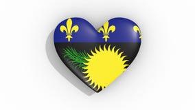 Corazón en la bandera de los pulsos de Guadalupe, lazo de los colores libre illustration