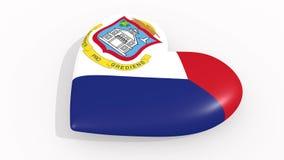 Corazón en la bandera de los pulsos de Sint Maarten, lazo de los colores libre illustration
