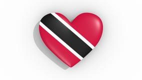 Corazón en la bandera de los pulsos de Trinidad And Tobago, lazo de los colores ilustración del vector