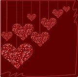Corazón en la cuerda de rosca Foto de archivo