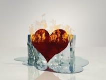 Corazón en la fusión del fuego ilustración del vector