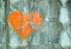 Corazón en la pared Foto de archivo libre de regalías